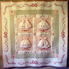 Lovely quilt for a baby girl..