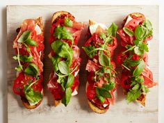 Roasted Tomato Tartines with Prosciutto Recipe : Food Network Kitchen : Food Network - FoodNetwork.com
