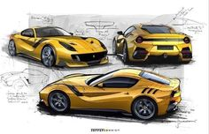 The Ferrari SUV: Logical Progression or Blasphemy? The Ferrari SUV: Logical Progression or Blasphemy Ferrari F12 Tdf, Ferrari Car, Lamborghini, Car Design Sketch, Car Sketch, Design Autos, Design Cars, Automobile, Car Drawings