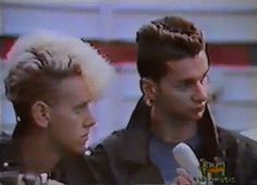 Dave Gahan and Martin Gore (PINTEREST NOW ALLOWS GIFS. LET THE CRAZY PINNING BEGIN)