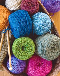 Yarn!  Pretty colors