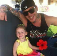 Hollywood Undead J3T & his daughter