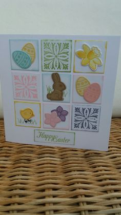 Easter card using Basket Bunch from Stampin Up