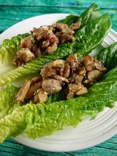 Paleo Honey & Ginger Chicken Lettuce Wraps - the preppy paleo