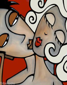 ONE-TWO-THREE-Original-Abstract-Painting-Modern-Art-Face-Print-by-Fidostudio