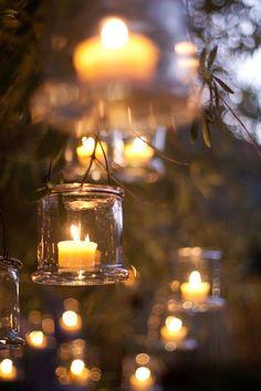 Wedding-Reception-Hanging-Votives
