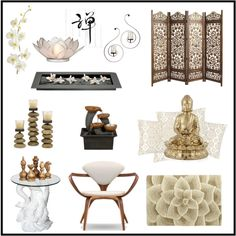 """""""Home decor inspiration - Zen"""" by cocolavieenrose on Polyvore"""