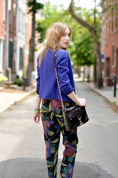 GAH i love these trousers!!! And the purple/blue blazer sets the print off perfectly   1eatsleepwear_timex