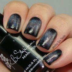 Shelby Lou Nails - Galaxy Nail Art - The Milky Way