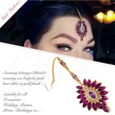 Stunning Chandelier gold pink Tikka Headpiece Headchain Maang Tikka @ song178bird21 matha patti Eid, Muslims, indian jewellery, Jewellery, Pins, Pin, Mu