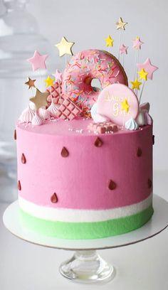 Candy Theme Cake, Candy Birthday Cakes, Elegant Birthday Cakes, Beautiful Birthday Cakes, Candy Cakes, Themed Birthday Cakes, Birthday Cake Girls, Themed Cakes, Pretty Cakes