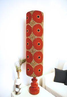 Handgefertigter XXL Lampenschirm mit wunderbarem Stoff aus Afrika Miss Cooper's Lounge