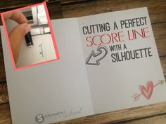 Trick to Cutting a Score Line on Silhouette CAMEO                                                                                                                                                                                 More