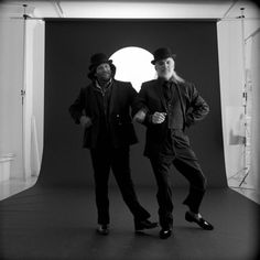 Robin Williams and Steve Martin for the 1988 production of Samuel Beckett's Waiting for Godot.  Photo by Brigitte Lacombe.