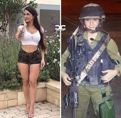 Don't Judge a Girl By Her Uniform, She May Just Surprise You! (36 photos) #BemeThis #Girls #WithandWithoutUniform #HotGirls #Beauty #SurprisingPhotos #BeautifulWomen Idf Women, Military Women, Fit Girl, Military Girl, Female Soldier, Girls Uniforms, Beautiful Women, Stunningly Beautiful, Lady
