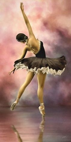 So I really am not the ballet dancer. Especially Pointe. but it was fundamental in all my dancing. Sure do love to watch real ballet dancers though. Art Ballet, Ballet Painting, Ballet Dancers, Ballerinas, Ballet Shoe, Painting Art, Ballerina Kunst, Dance Like No One Is Watching, Shall We Dance