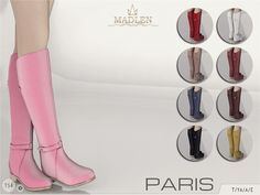 The Sims Resource: Madlen Paris Boots by MJ95 • Sims 4 Downloads