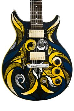 Hand painted, Steffen's Guitar by Andreas Preis, via Behance Best Acoustic Guitar, Jazz Guitar, Guitar Art, Cool Guitar, Guitar Room, Taylor Guitars, Guitar Painting, Guitar For Beginners, Guitar Tips