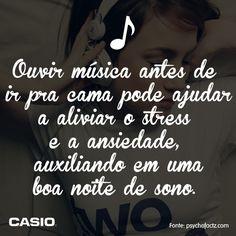 A música alivia o stress e a ansiedade! :)