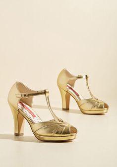 391165bab1df6 1920s 1930s Gold Heels -Take Your Dances Heel in Metallic Gold  74.99 AT  Vintagedancer.