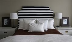 DIY Striped Headboard