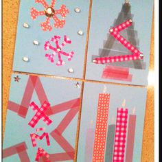 DIY taped christmascards, easy and simple