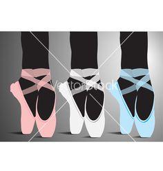 Ballerina Ballet Shoes Template/ Stencil/ Mural. Vector by aroas on VectorStock®