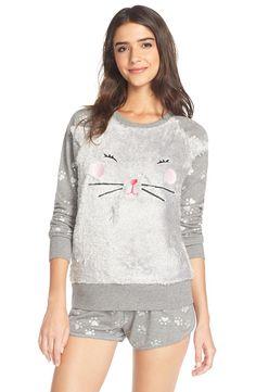 COZY ZOE 'Kitty' Fleece Pajamas | Nordstrom