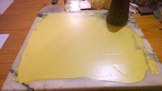 jaune hansa PY 74 grindind with oil
