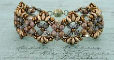 "FLUTTER BRACELET   15/0 seed beads Toho ""Antique Bronze"" (223)  11/0 seed beads Toho ""Antique Bronze"" (223)  8/0 seed beads Toho ""Antique..."
