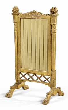 date unspecified A GILTWOOD FIRESCREEN, EARLY 19TH CENTURY 1,000 — 1,500 EUR 1,128 - 1,692USD LOT SOLD. 588 EUR (663 USD) (Hammer Price with Buyer's Premium)