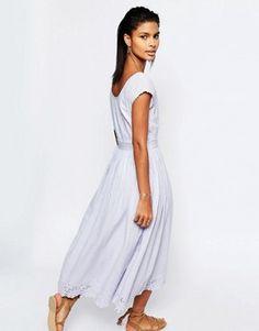 Tularosa Shelby Button Back Midi Dress