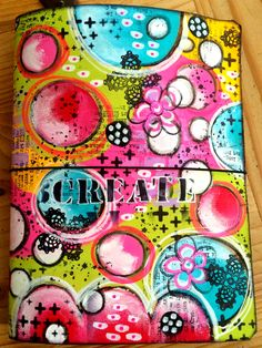 Painted leather art journal