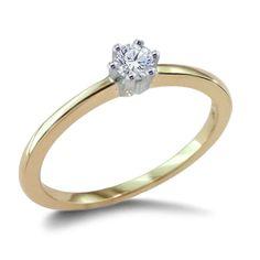 Verlobungs Diamantring mit 0.10 Karat Diamant in 585er Gelbgold  #diamantring #verlobung #juwelier #abt #dortmund