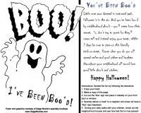 Halloween You've Been Boo'd Poem and graphic.  Totally fun for family, friends and your neighbors!  #boopoem #halloweentradition