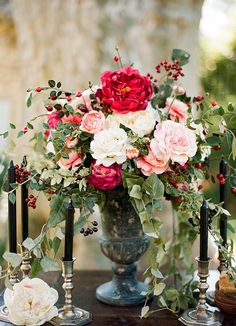 Lovely France wedding shoot by Clayton Austin   Marsala Blush and Ivory with Greenery via boards.styleunveiled.com