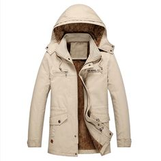 61.56$  Buy now - http://ali34g.worldwells.pw/go.php?t=32744147947 - New Arrivals Men Hooded Trench Coats Plus Size 5XL England Style Men Fleece Jackets Military Style Branding Clothes Winter S2292