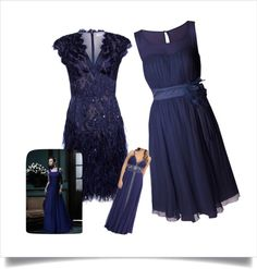 """Navy Blue Bridesmaid Dress Ideas"" by misterpiko on Polyvore"