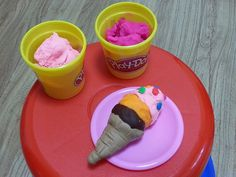 Yummy playdough ice cream scoops!!!