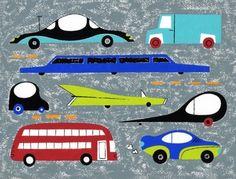 Futuristic car print by Ali G Douglass.
