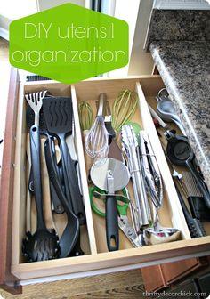 DIY utensil drawer organization and decrapifying info!