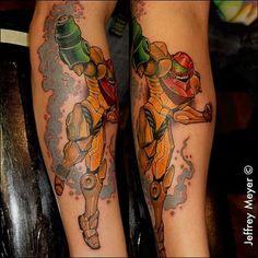 Samus Aran tattoo done by @jeffreymeyer_unbreakable. #tattoo #tattoos #ink #videogametattoo #gamertattoo #gamerink #videogames #gamer #gaming #nintendo #nes #snes #supernintendo #n64 #gamecube #wii #wiiu #samusaran #metroid #samusarantattoo #metroidtattoo
