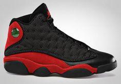 NIKE AIR JORDAN 13 RETRO BLACK/VARSITY RED-WHITE #sneaker