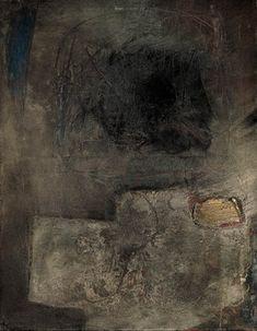 Antoni Tàpies - Figura - paisaje en gris.