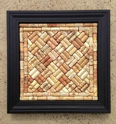 Wine Cork Craft Bulletin Board or wall hanging