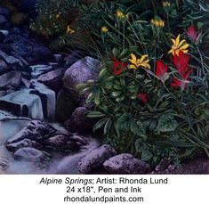 'one of my earlier pieces. Lund, Rocky Mountains, Artist, Plants, Artists, Flora, Plant, Planting