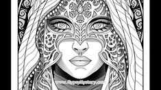 Timelapse Coloring Book Art Shadow Seer By Cristina McAllister
