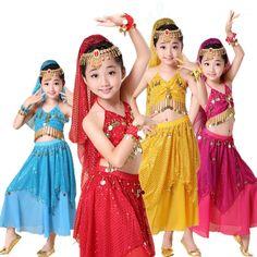 a971bd44c55fa 2017 61 children's belly dance highlights skirt suit children's India dance  performances children's clothing. Belly Dance OutfitBelly ...