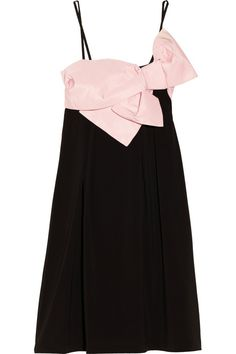 RED Valentino Bow-detailed stretch-jersey dress