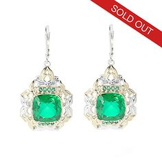 "145-405- Gems en Vogue Brazilian-Cut Quartz Doublet ""Ekaterina"" Earrings"